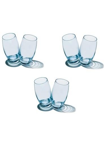 Paşabahçe 41020 6 Lı Barrel Bardak Su Bardağı - Meşrubat Bardağı Mavi Mavi
